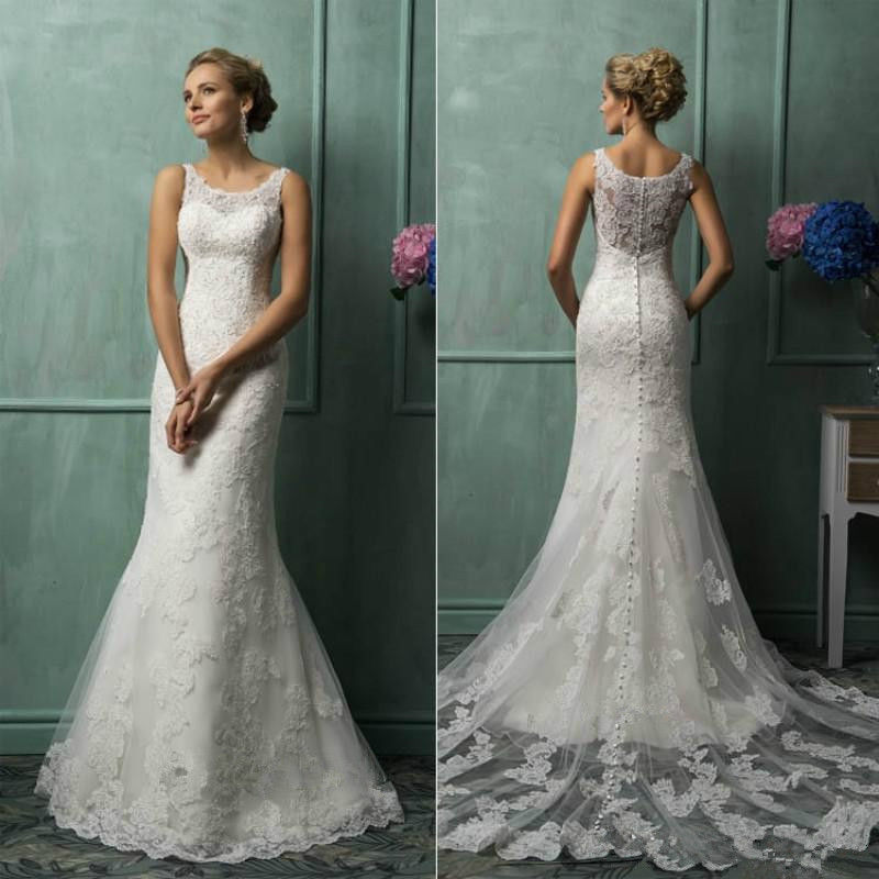 White/Ivory Lace Wedding Dress Bridal Gown Custom Size 2 4 6 8 10 ...